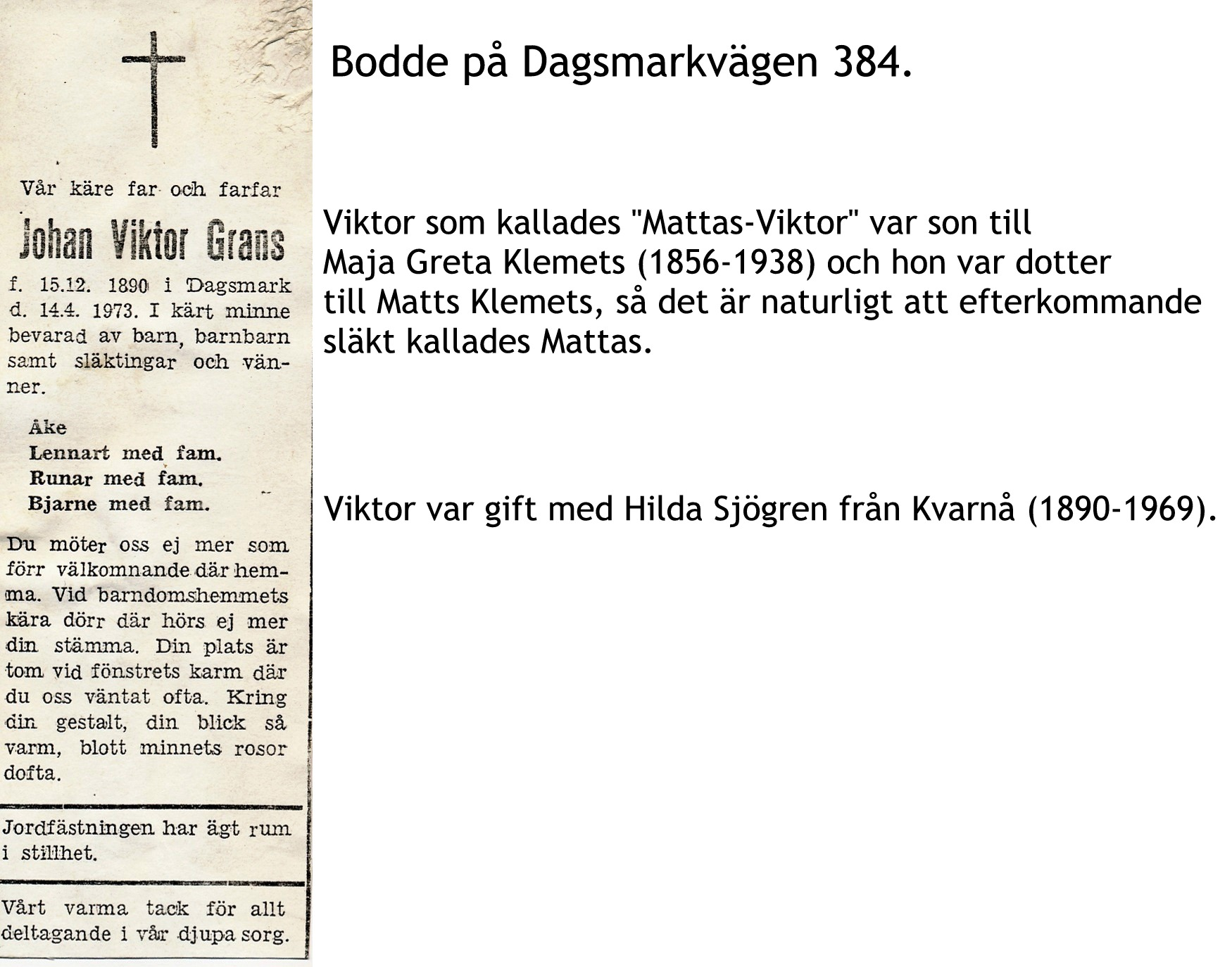 Grans Johan VIKTOR