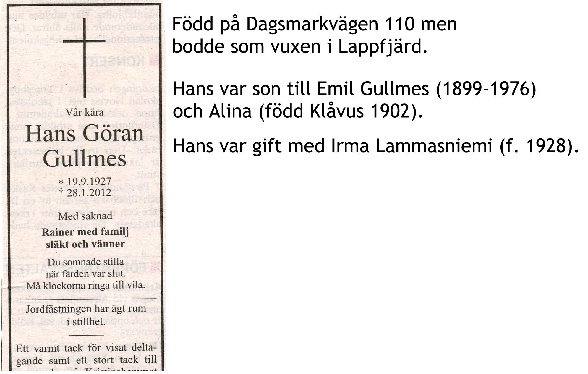 Gullmes Hans