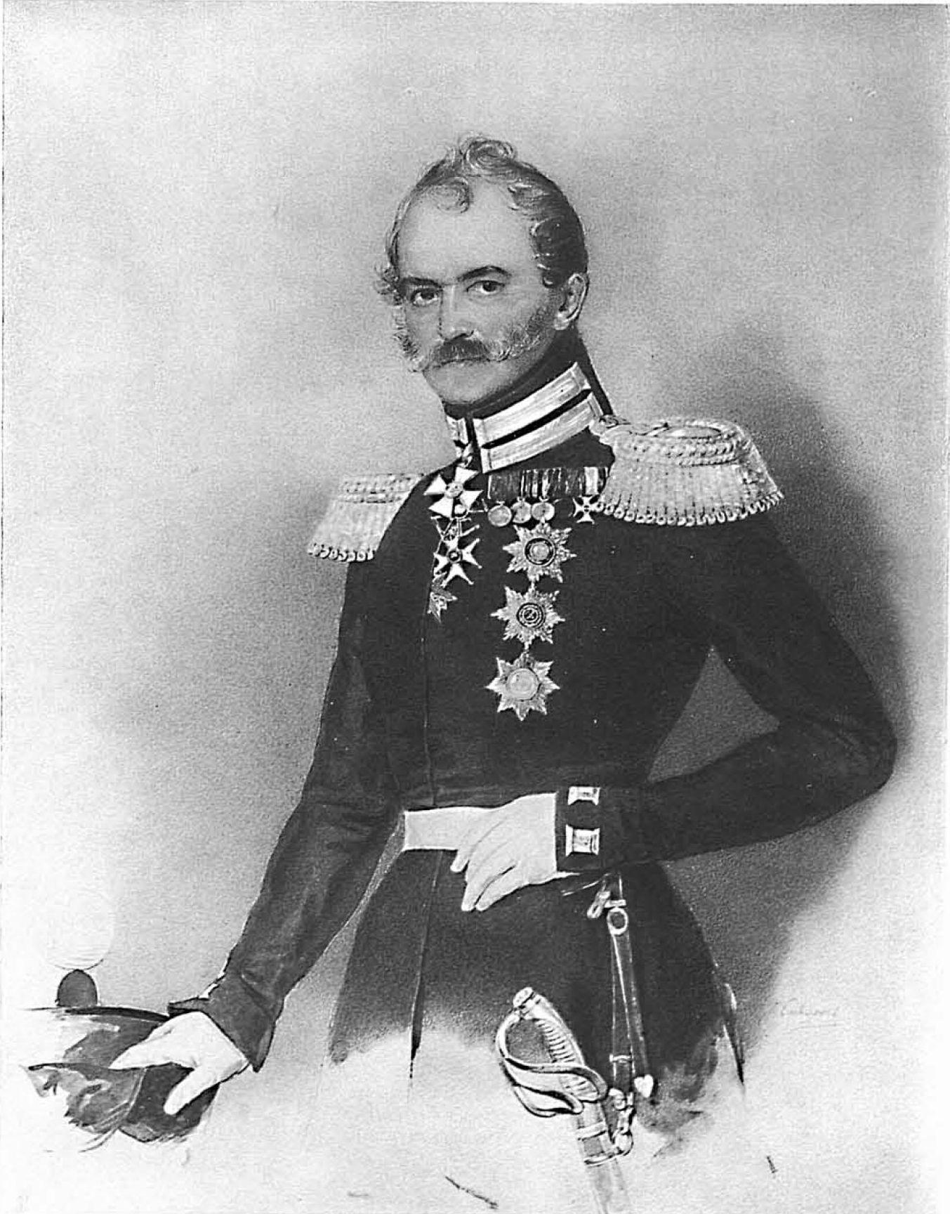 Greven och generalen Orloff-Denisoff vistades i Lappfjärd under det finska kriget 1808-09 tillsammans med sina kosacker.
