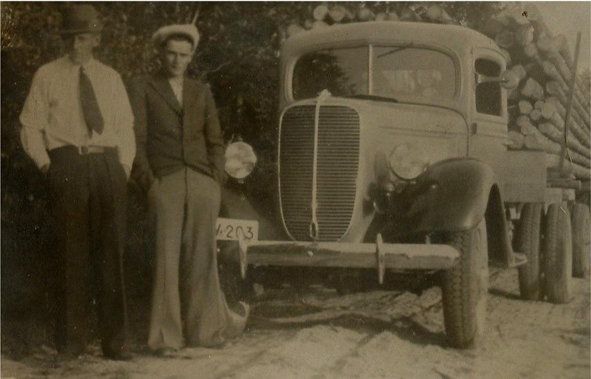 I Rosengårds familj på Brobackan fanns det många lastautomobiler och ännu fler chaufförer.