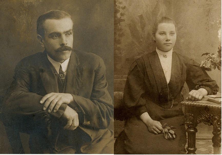 Till vänster Erland Rosenback med hustrun Alvina till höger.