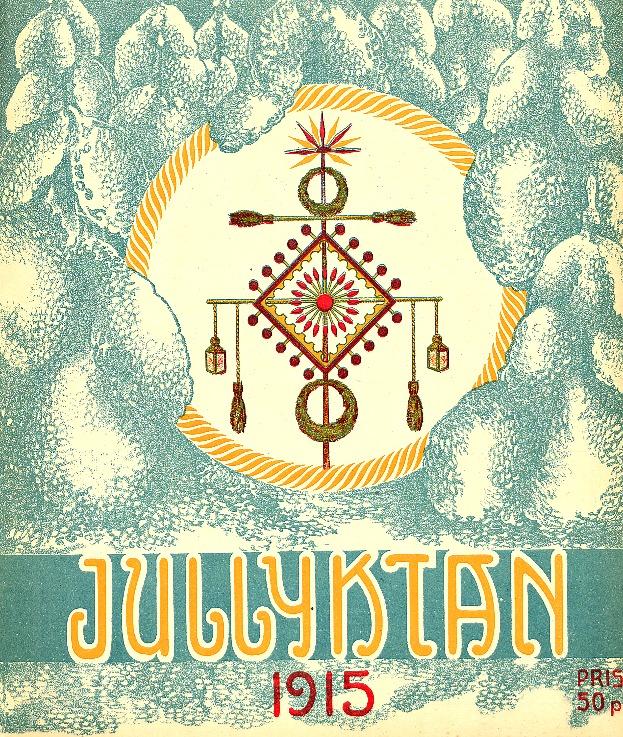På pärmbilden till tidningen Jullyktan där Jacob Tegengren publicerade sin julartikel finns avbildat ett julkors från 1800-talet.