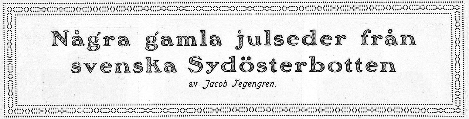 Jakob Tegengrens vinjett