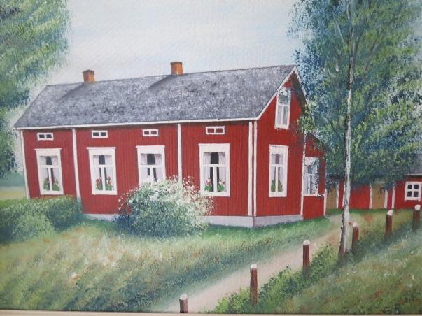 Så här såg Rosenbacks gård ut enligt konstnären Rosblom.