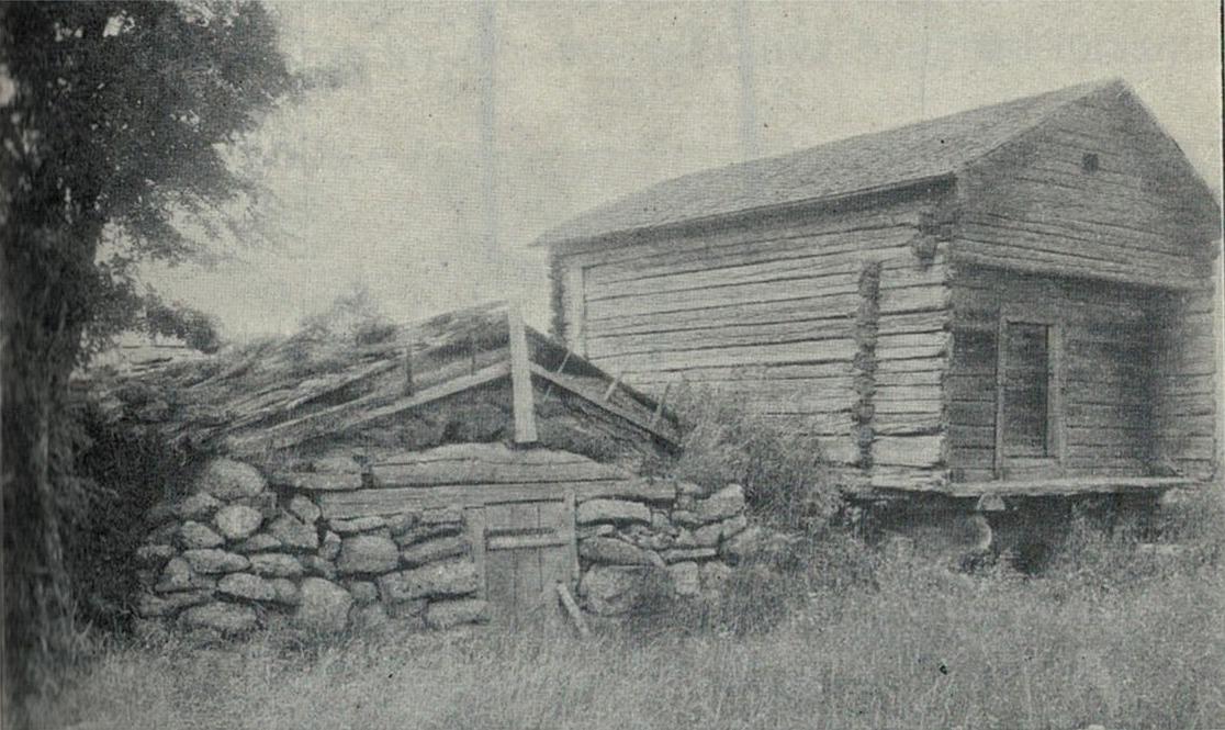 Pärungrop byggd av kullerstenar hos Josefina Rönnqvist i Sideby.