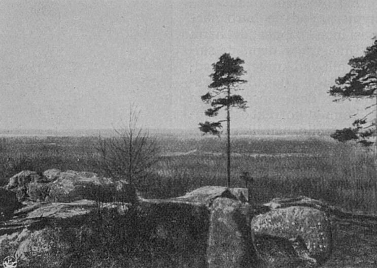 Från toppen av Bötomberget lär man vid gott väder kunna se hela 7 kyrktorn.