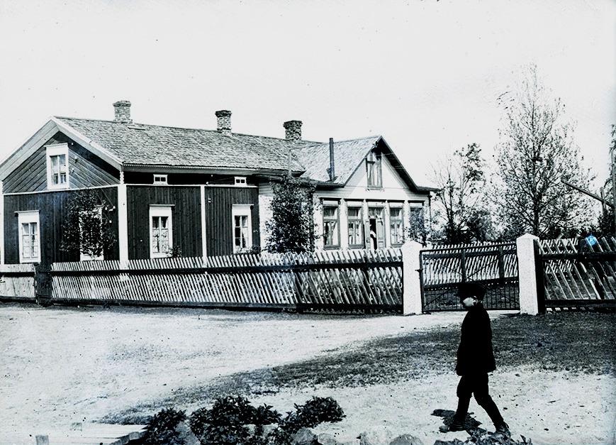 Viktor Nylunds stora bondgård på Sunnantillvägen.