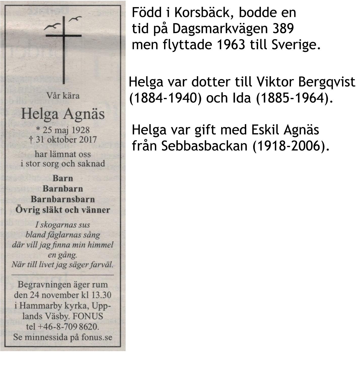 Agnäs Helga