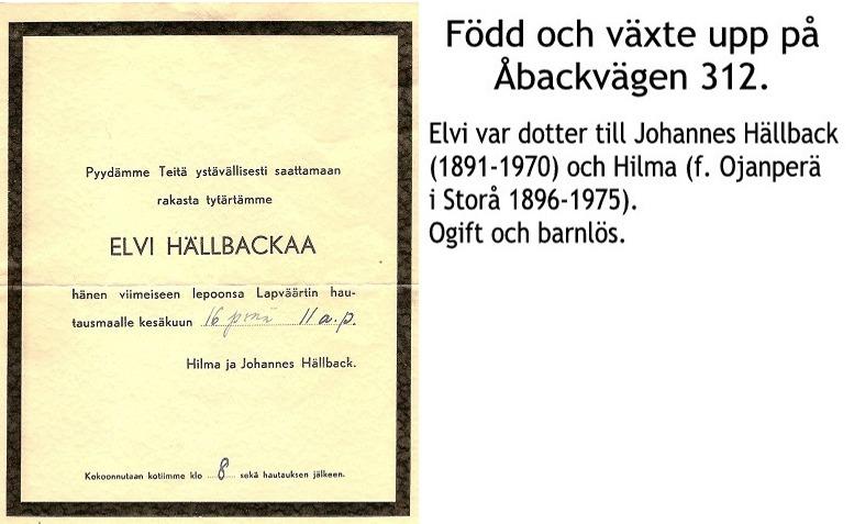Hällback Elvi