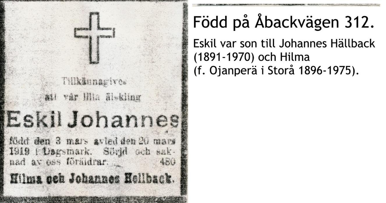 Hällback Eskil Johannes