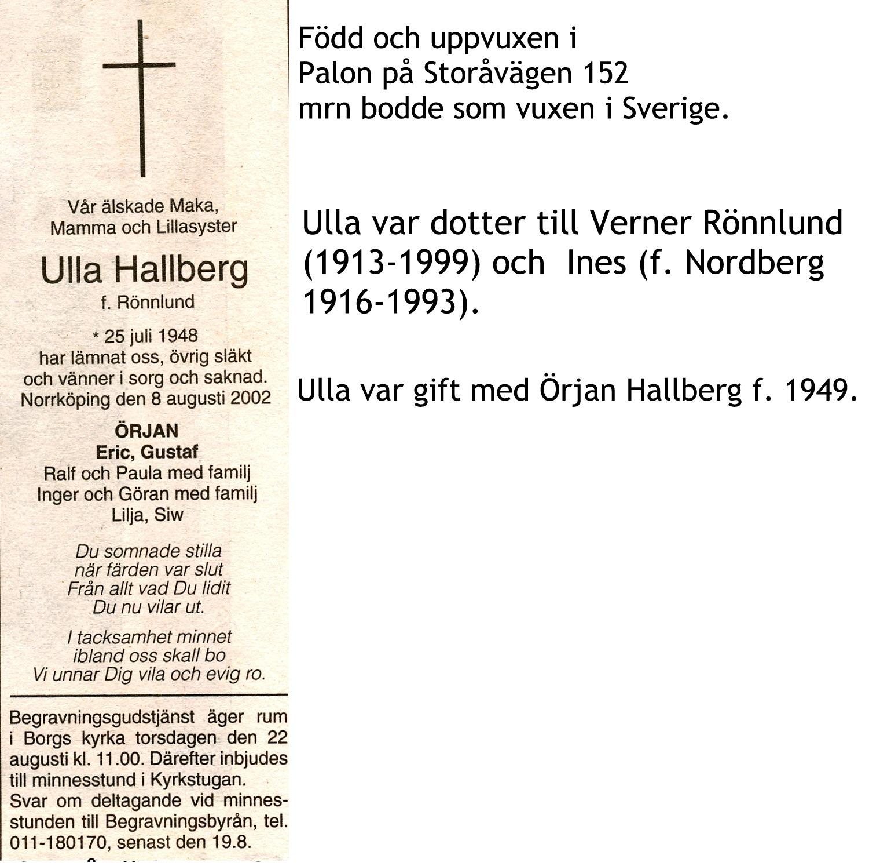 Hallberg Ulla