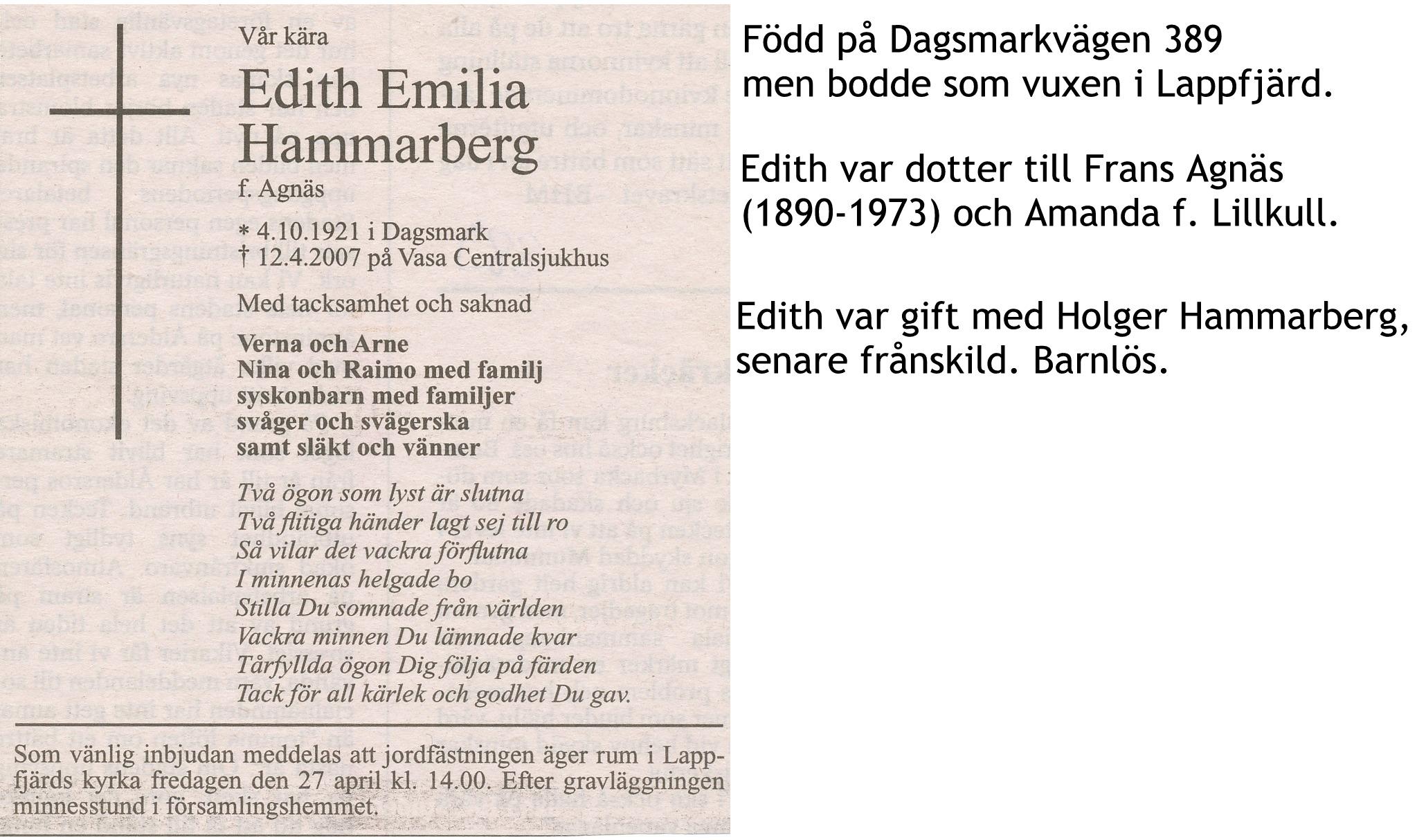 Hammarberg Edith
