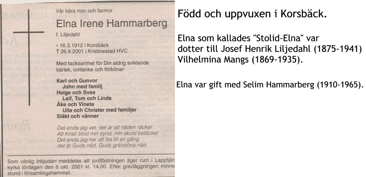 Hammarberg Elna