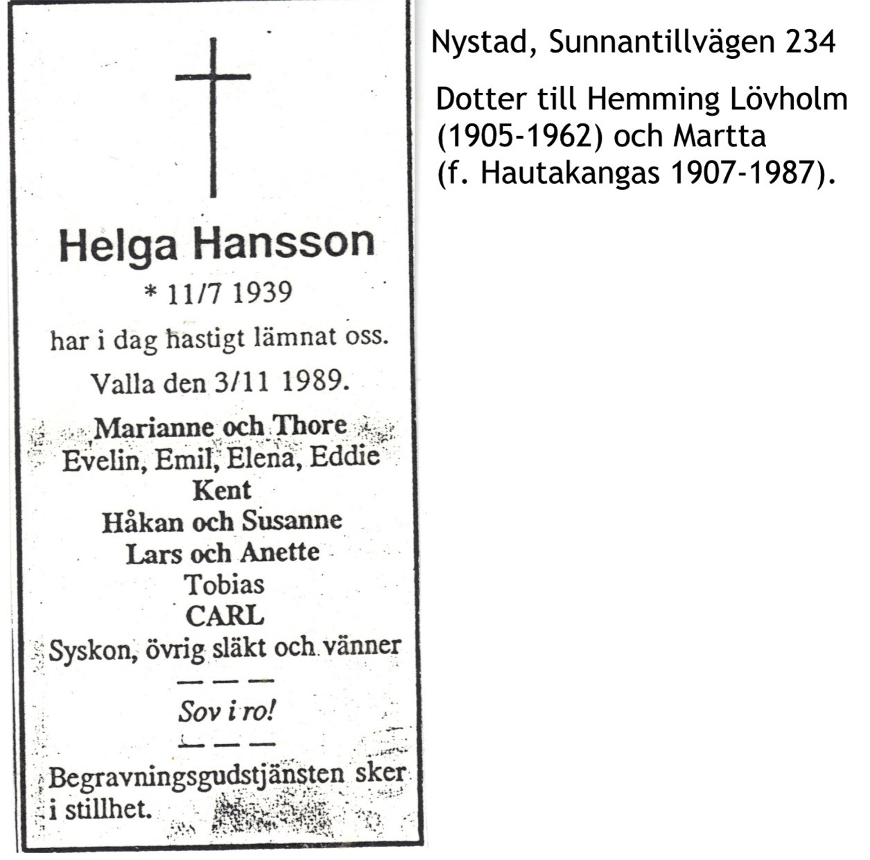 Hansson Helga