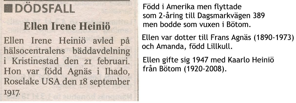 Heiniö Ellen, f Agnäs