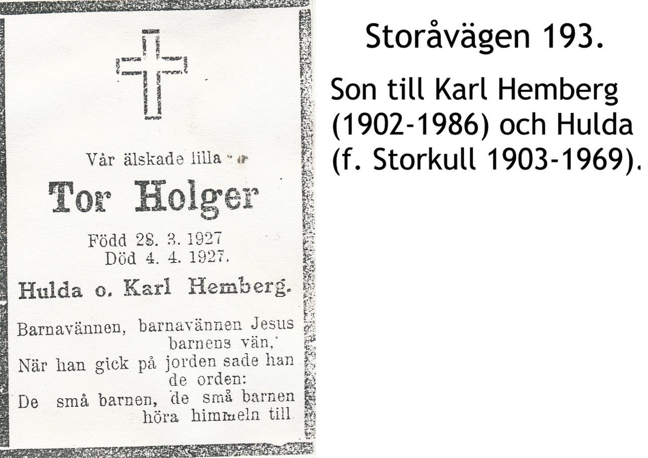 Hemberg Tor Holger