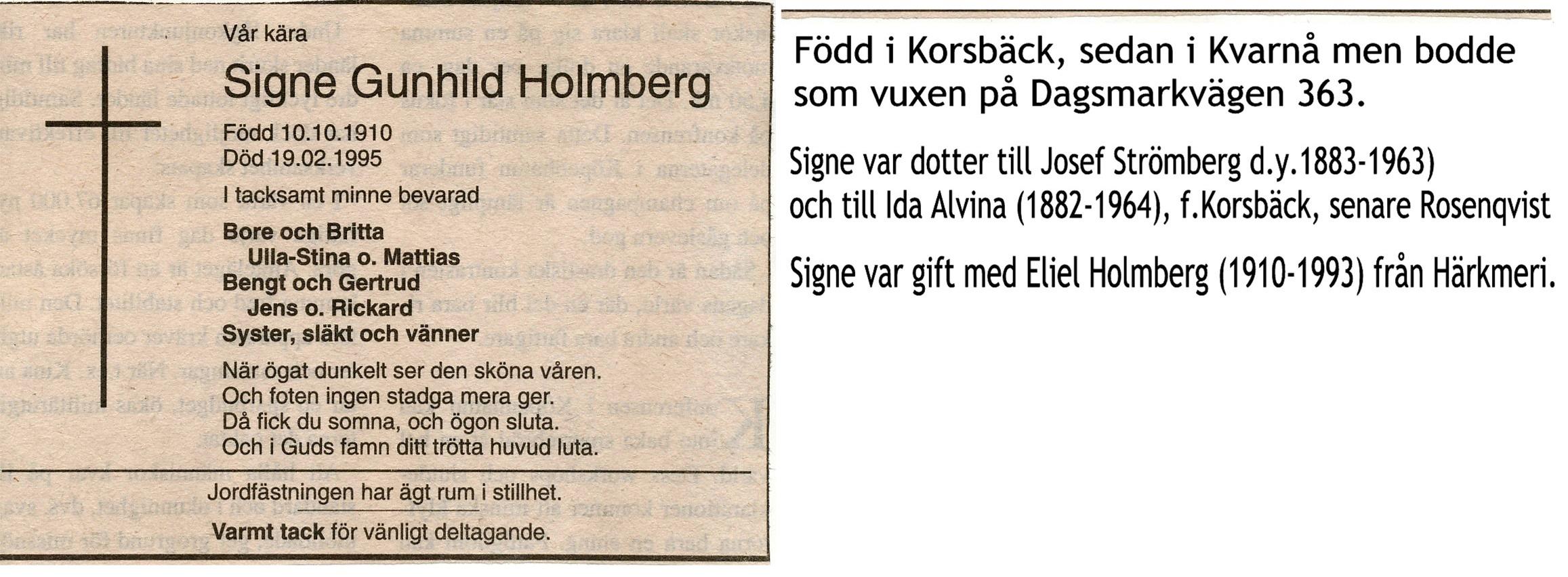 Holmberg Signe Gunhild