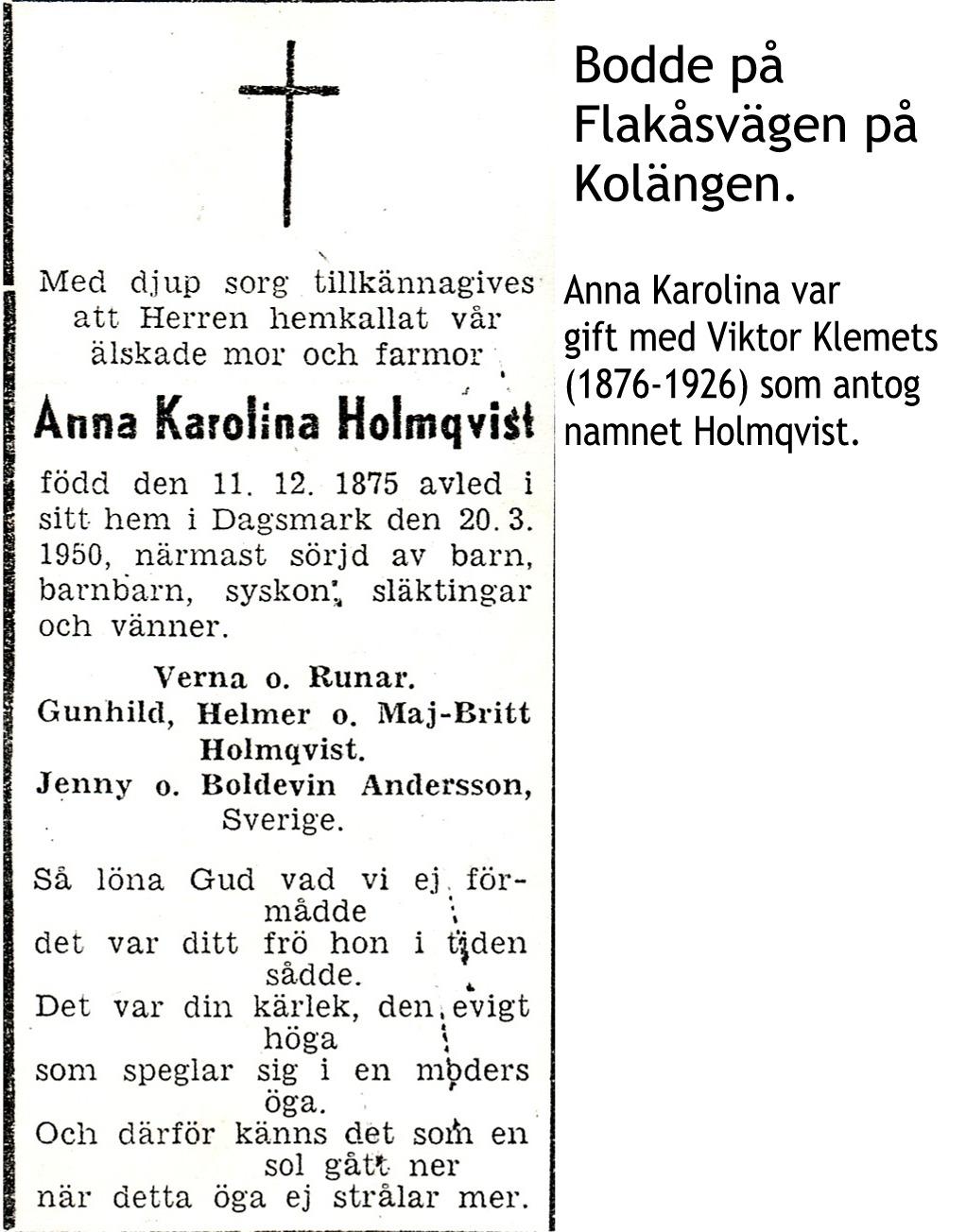 Holmqvist Anna Karolina