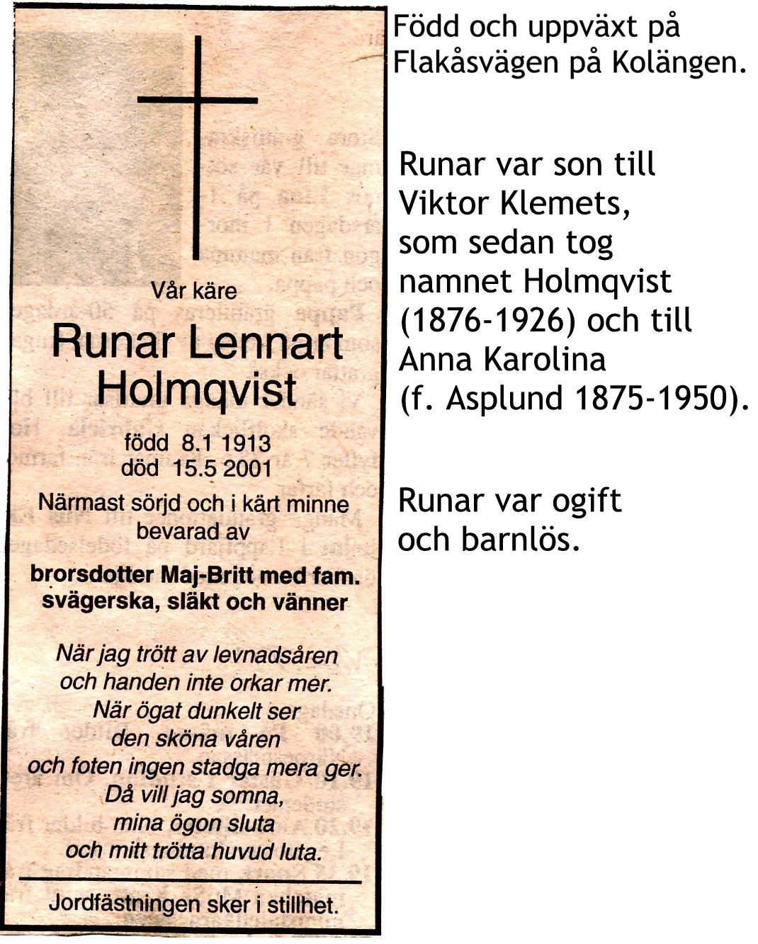 Holmqvist Runar