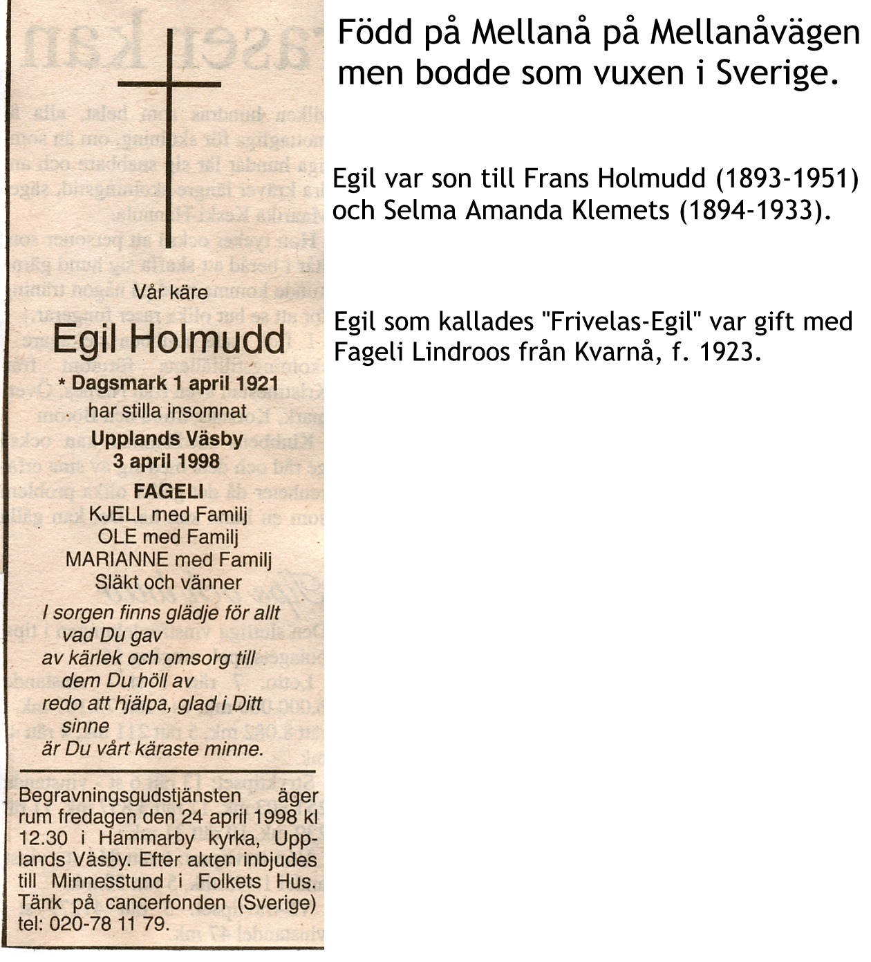 Holmudd Egil