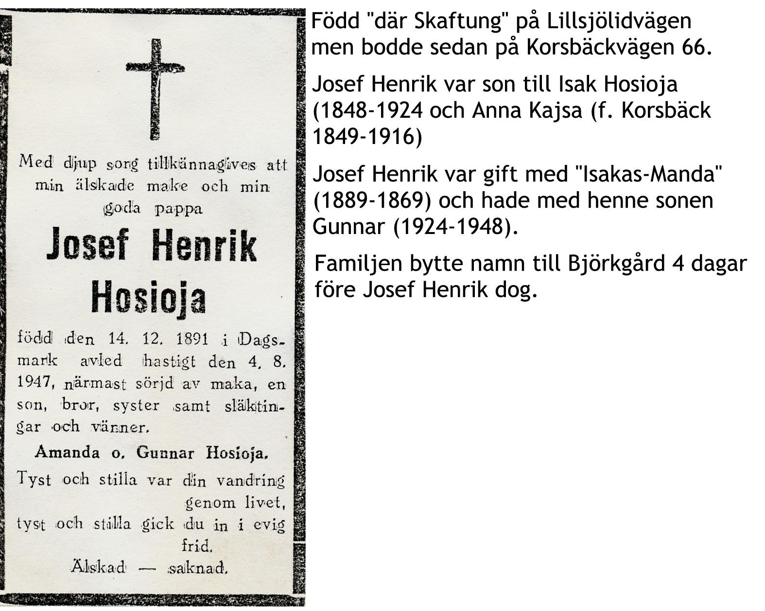 Hosioja Josef Henrik