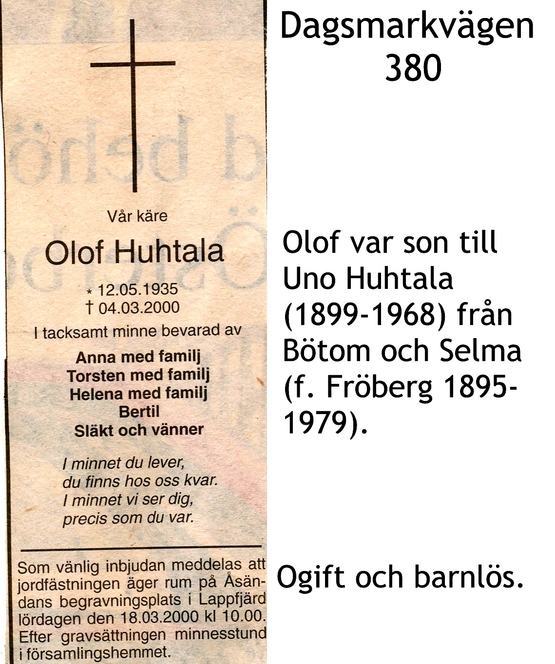 Huhtala Olof