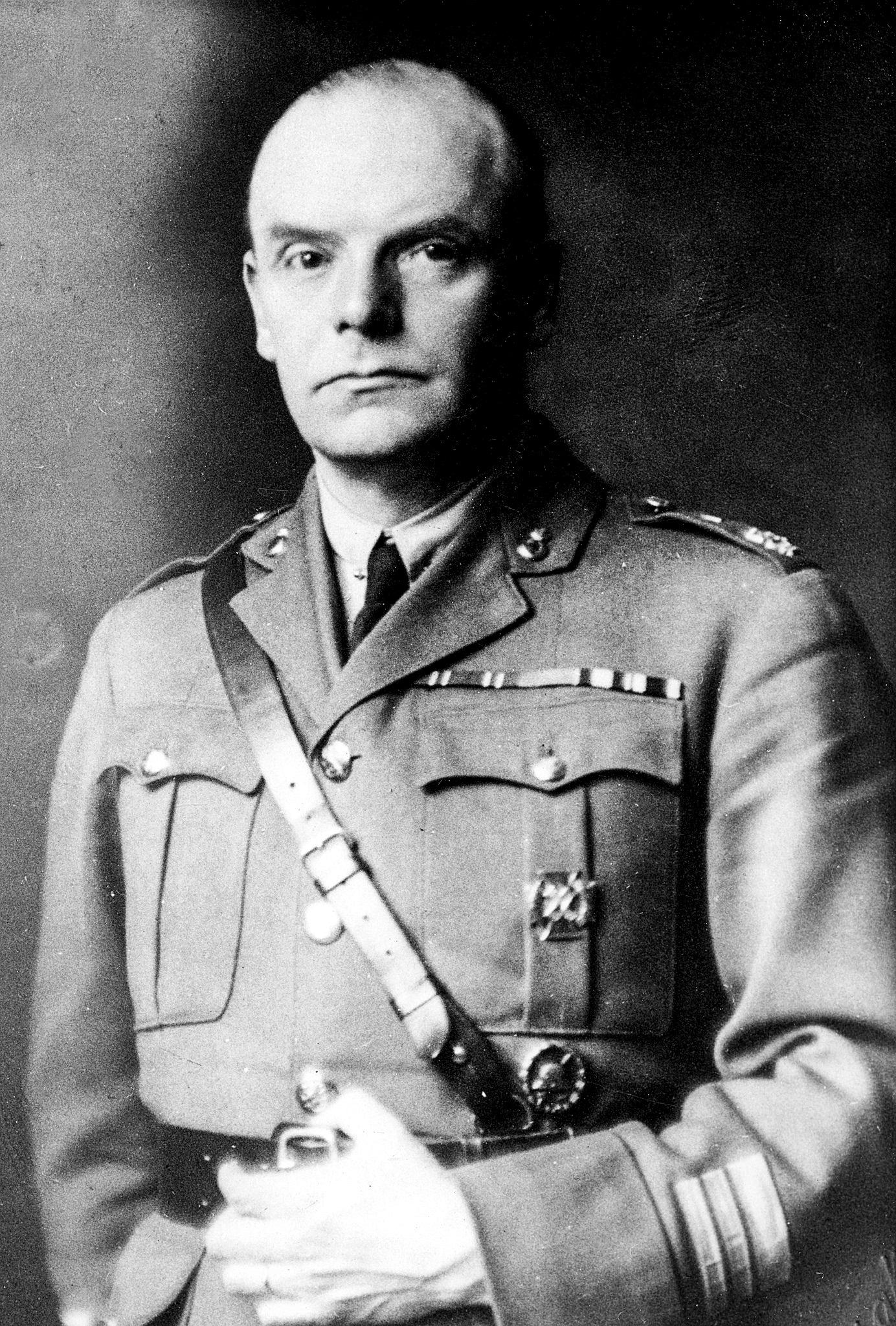 Kompanichef Gunnar Melin. Foto från Museokeskus Vapriikki.