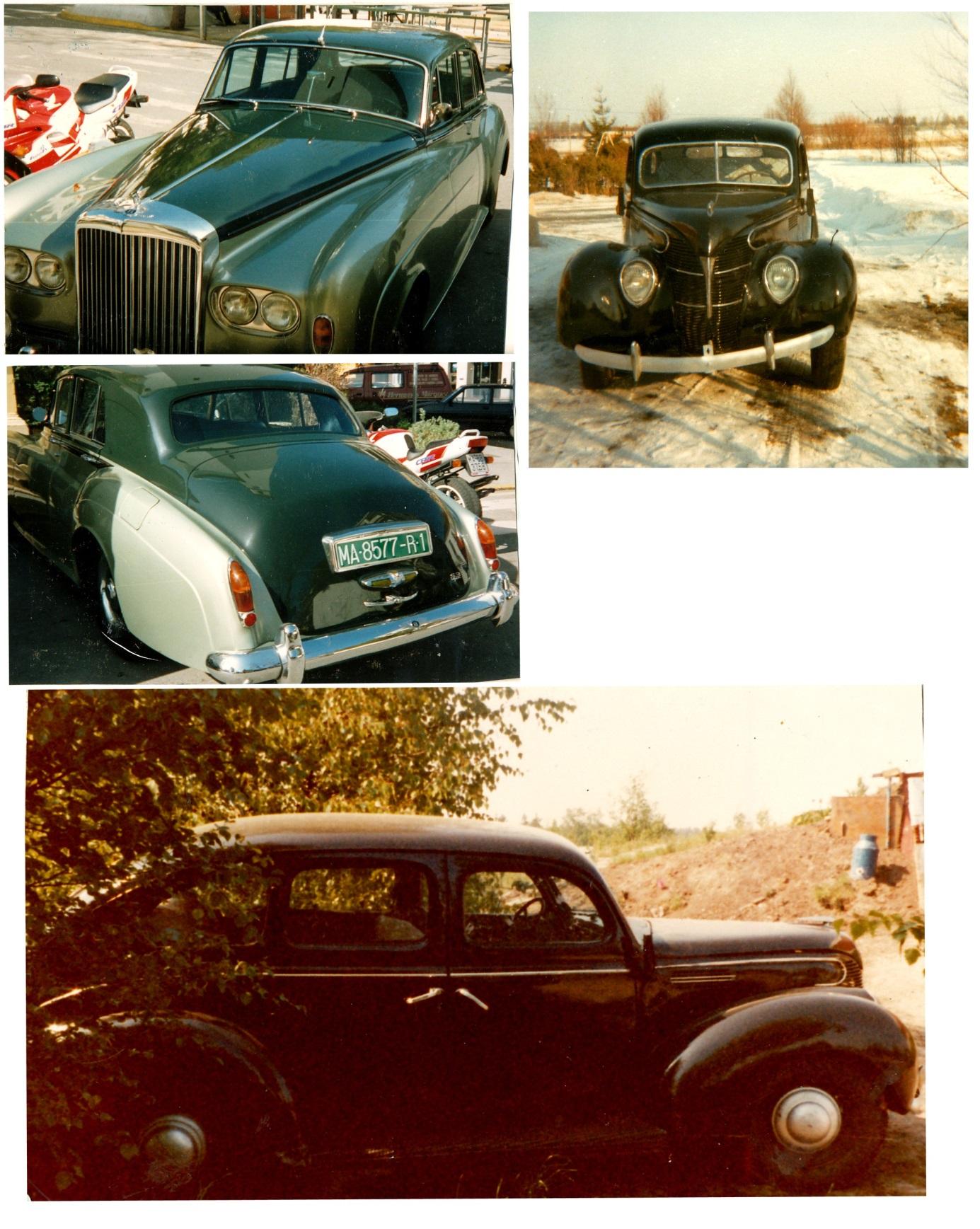 Här några av de bilar som Åke sålde på sin tid.