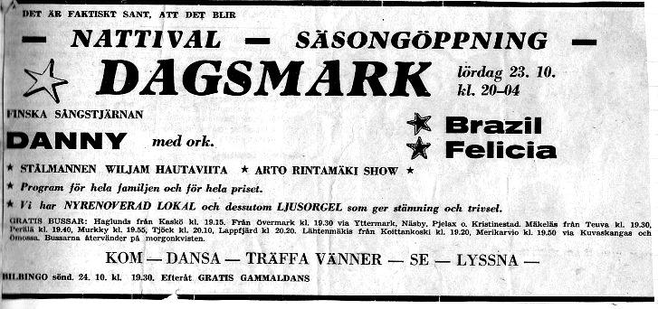 Tidningsannons i Österbottniska Posten.