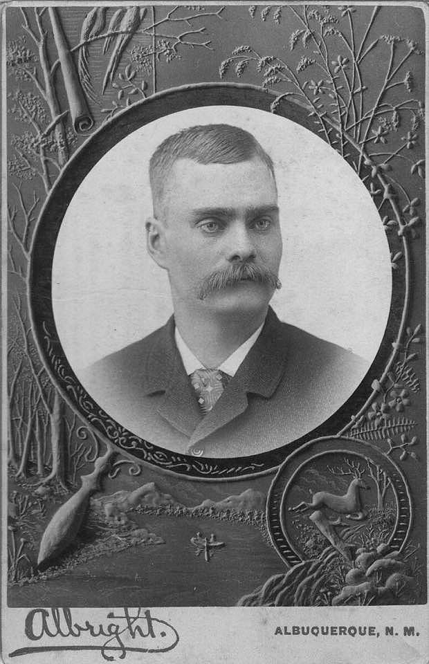 John Erikssons foto, taget i unga år då han vistades i New Mexico i Amerika.