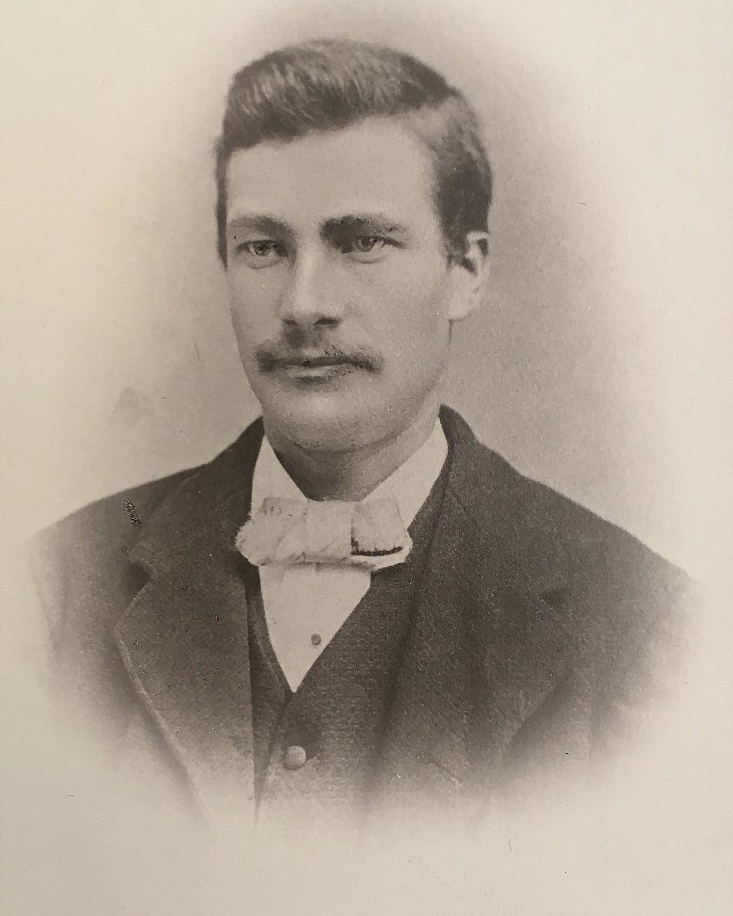 Ulfves Johan Viktor 1854-1889. Fotot från SLS:s arkiv i Vasa.
