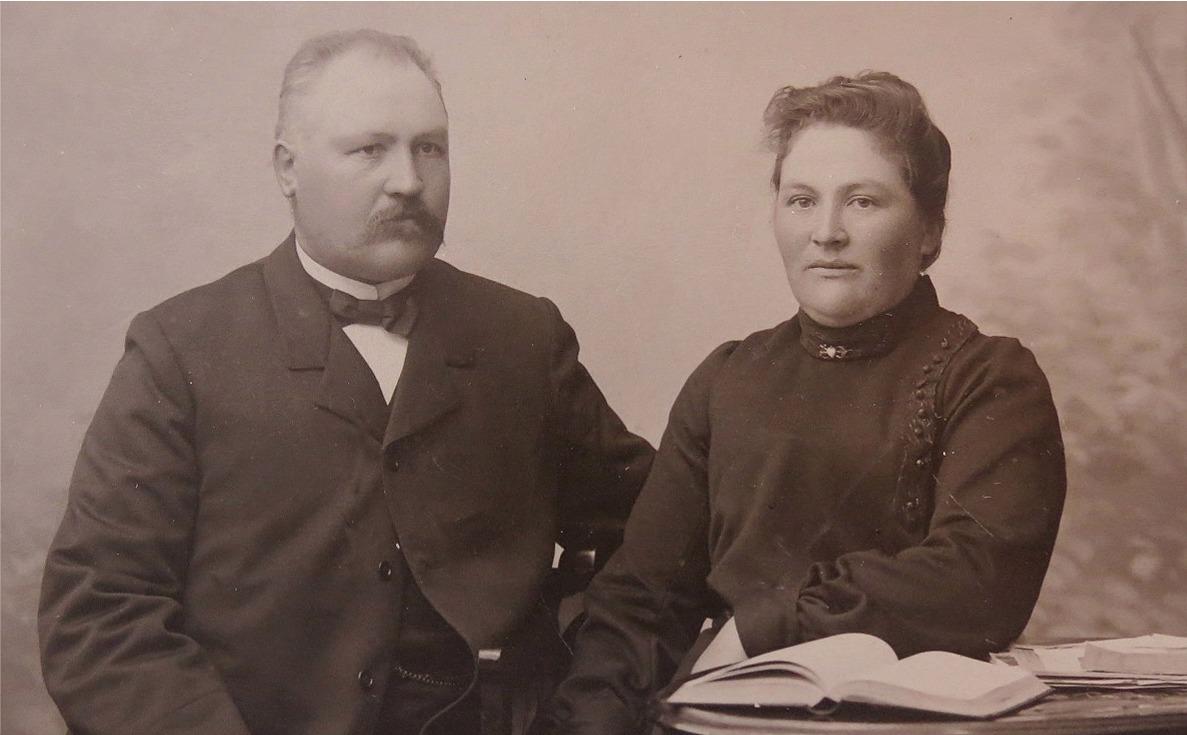 Johan Jakob Wadström tillsammans med sin andra hustru Ida.