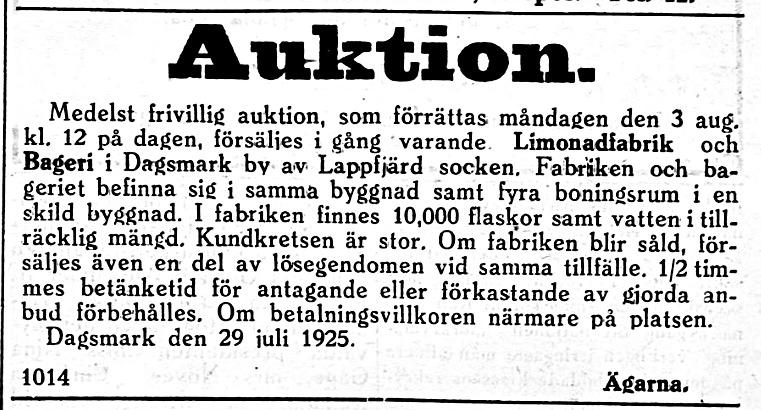 19250801 Lemonadfabrik och bageri säljs