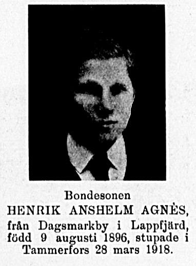 Agnäs Anselm ur Veckans krönika 22.2.1919