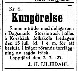 19270709 Storsjö träsk, Liljedahl