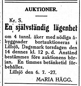 Maria Hägg försöker ånyo sälja sin lägenhet i Lillsjö bakom Bergåsen.