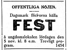 19271029 Flickor på DUF