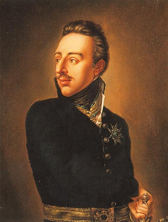 """Kung Gustav IV Adolf var son till """"teaterkungen"""" Gustav III och var regent under åren 1796-1809. De dåliga framgångarna i 1808-09 års krig gjorde att han avsattes i en statskupp och att han sedan levde som en fattig man nere på kontinenten fram till sin död 1837."""
