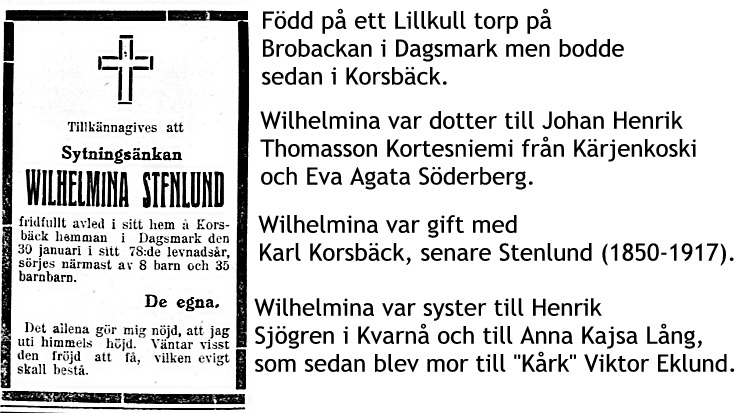 Stenlund Wilhelmina