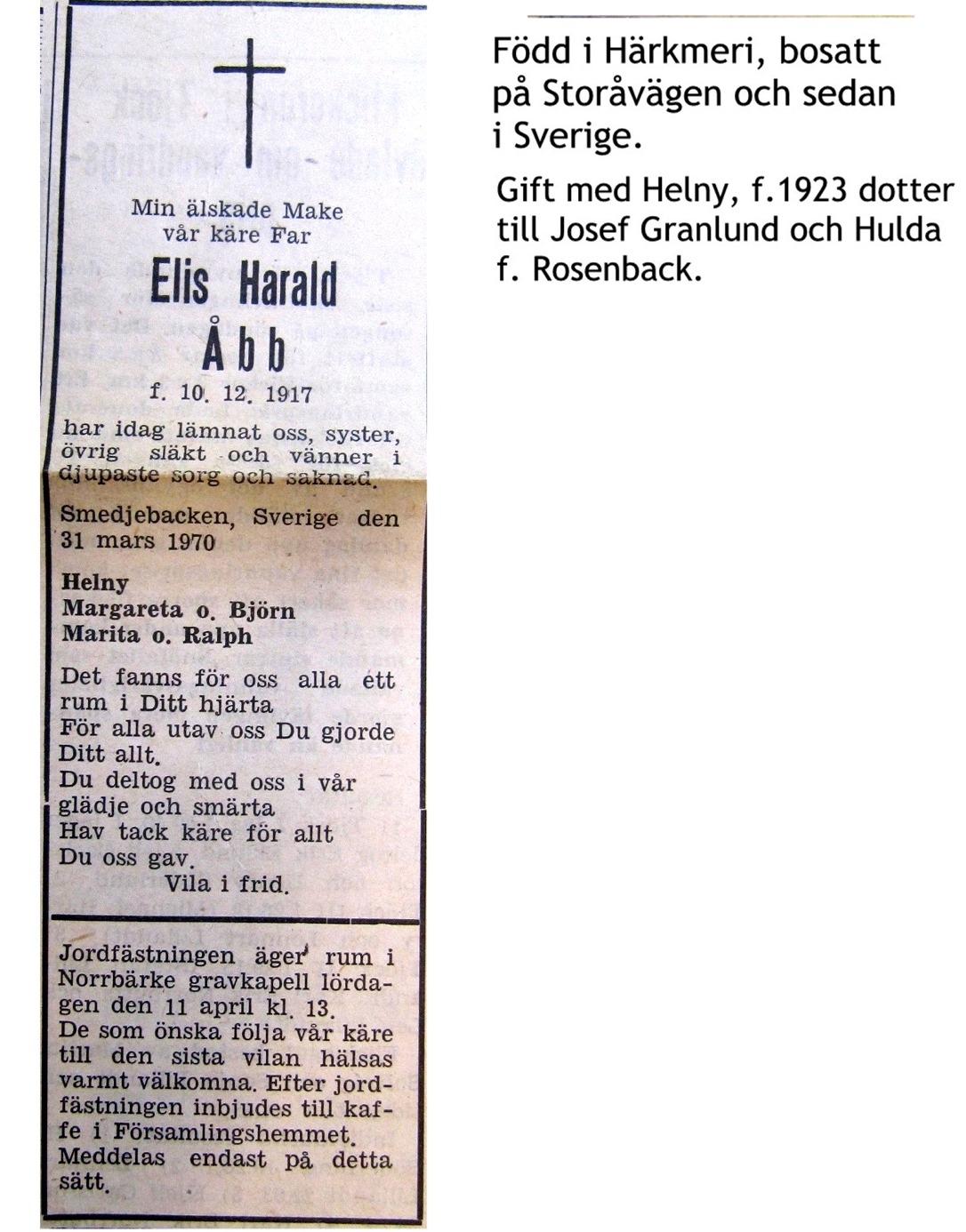 Åbb Elis Harald