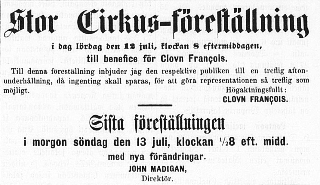 Tidningen Ahti 12.7.1879.