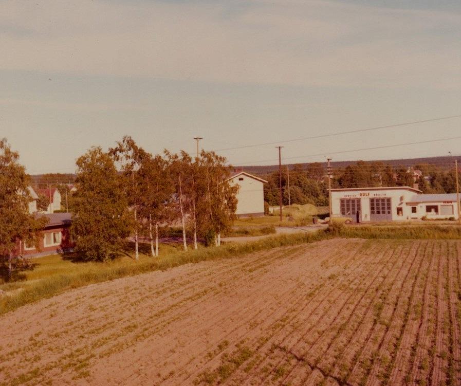 Dagsmark centrum fotograferat från stugtaket år 1969.