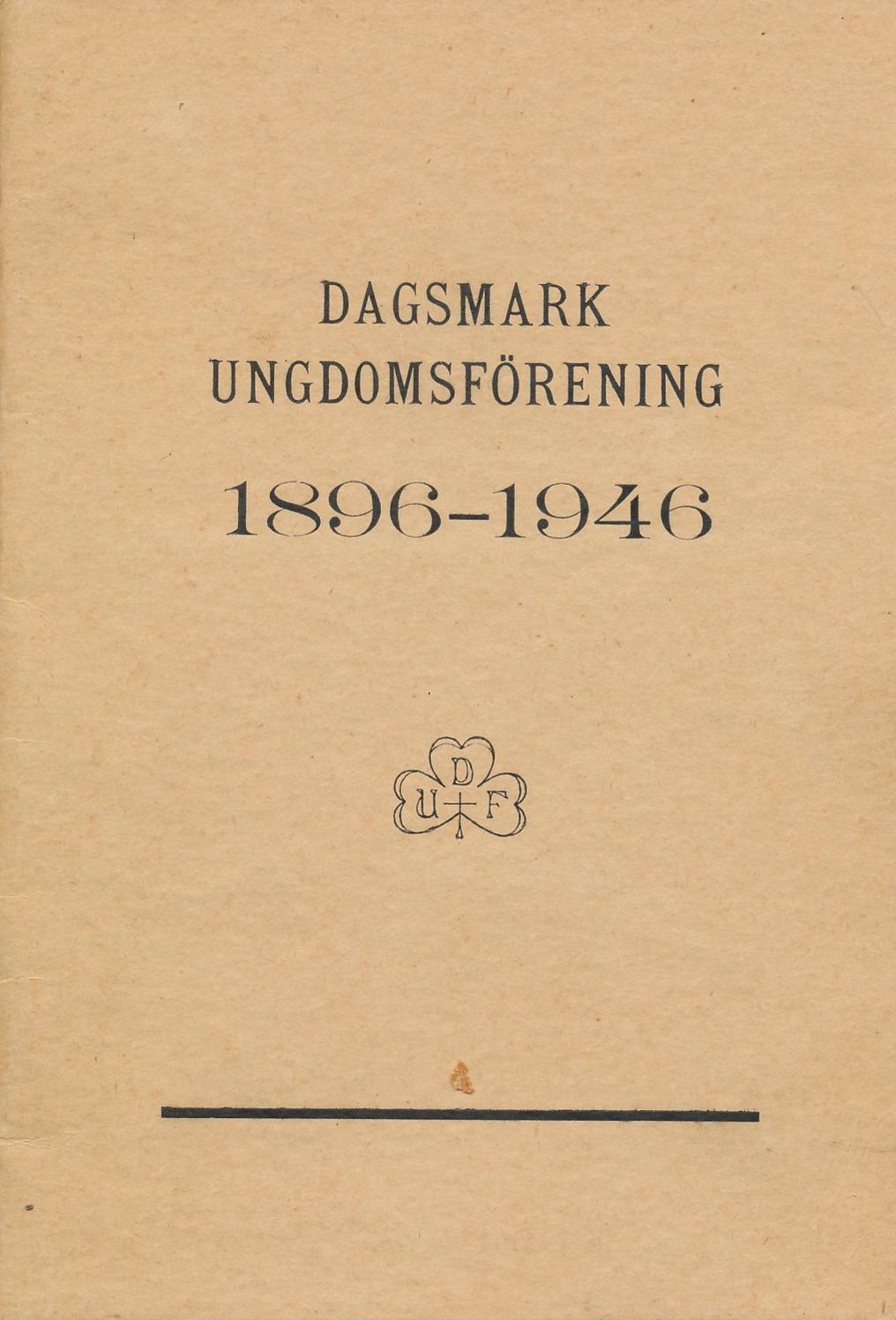 Pärmbilden på historiken som Einar Lind skrev till föreningens 50-års jubileum.