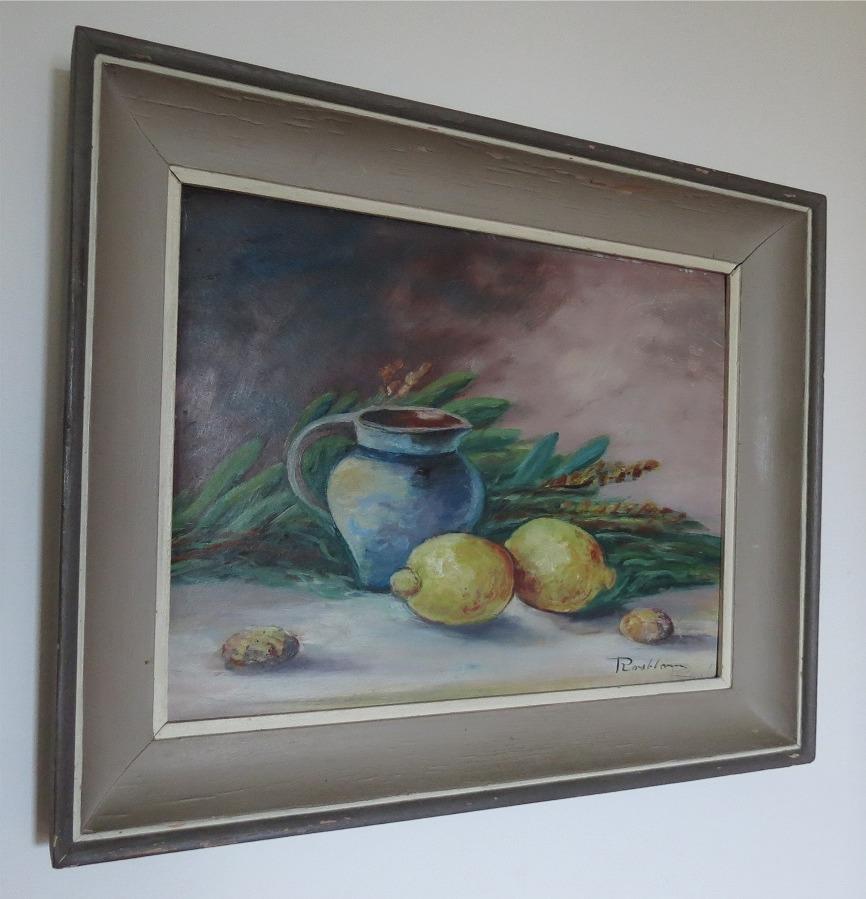 Konstnären Rosblom som var gift med Hilma Hautaviita är känd för sina tavlor av gårdar i Sydösterbotten men han målade också andra motiv.