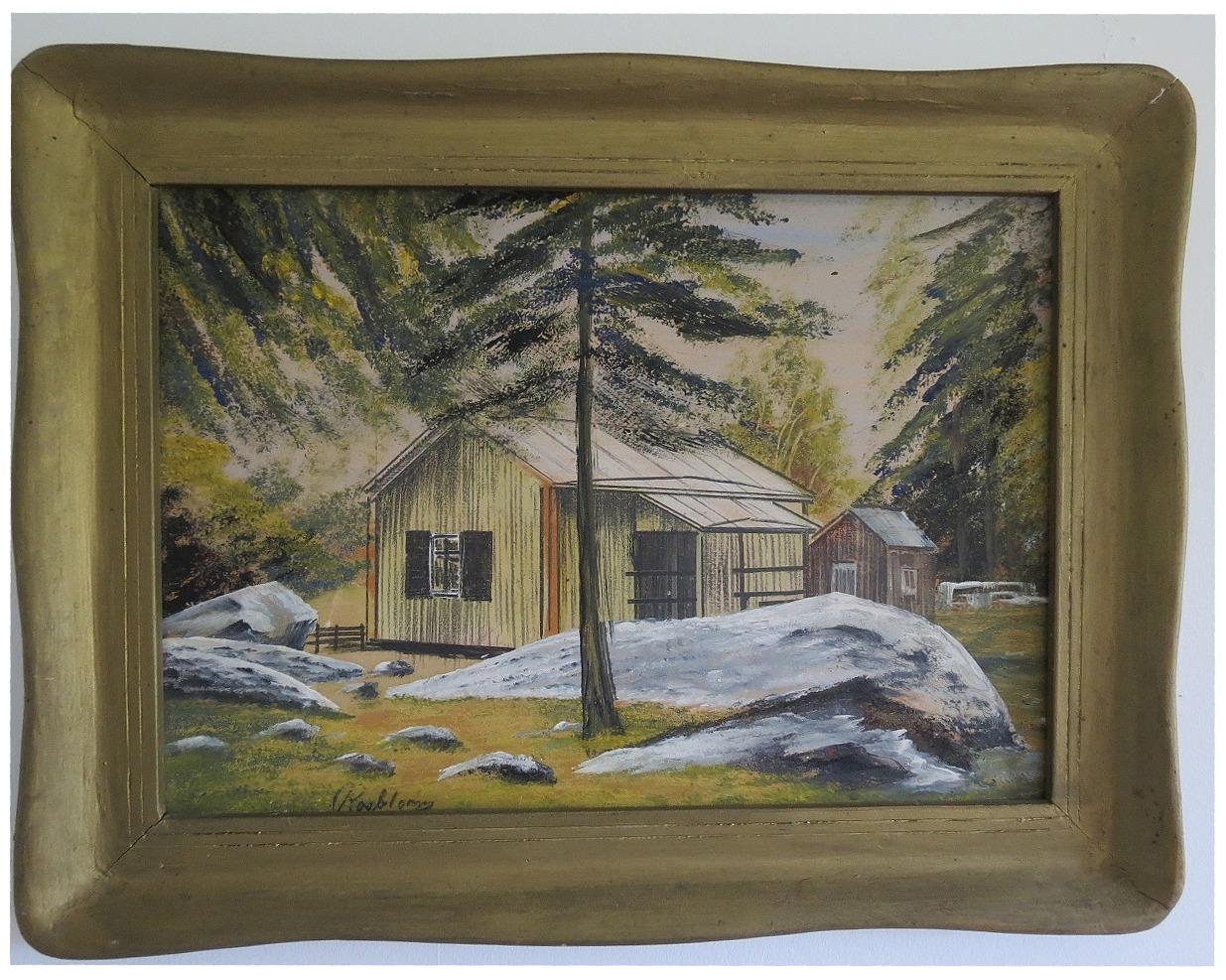Rosblom hade en målaratelje i Hautaviitas gård, i den södra ändan där han bodde tillsammans med Hilma. Då Hilma dog flyttade Rosblom till Kristinestad.