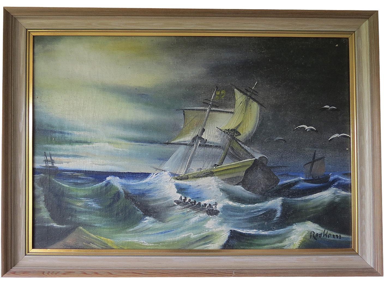 Denna ovanliga tavla är målad av Rensor Rosblom, någon tid efter att han gått ut konstskolan.