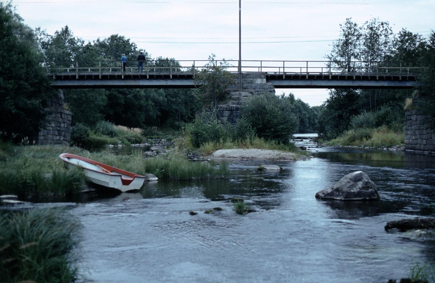 Storbron fotograferad från söder 1983, just före den revs och den nya byggdes.