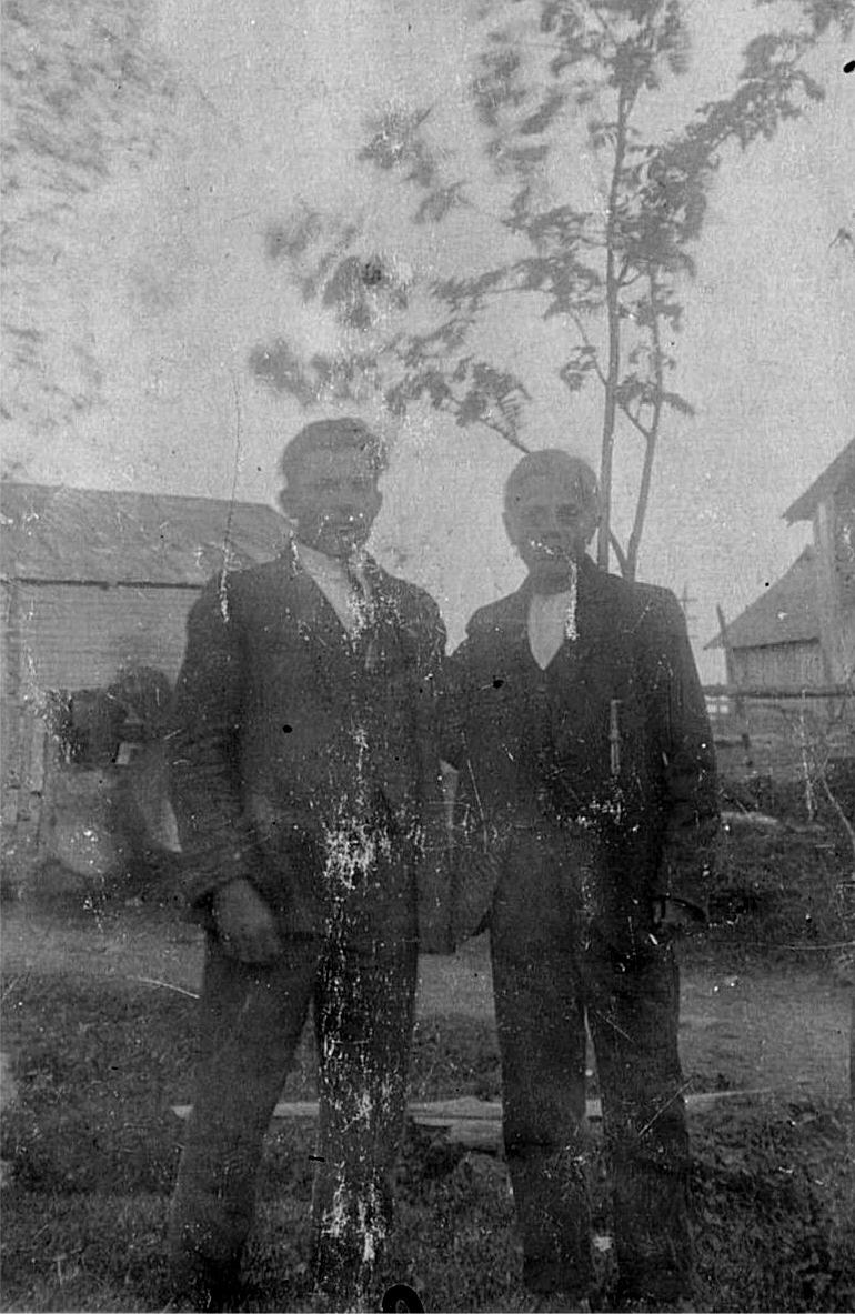 Till höger Theodor Rosenblad, den till vänster är okänd.