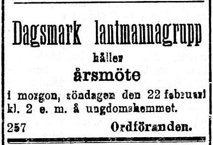 19200221 Lantmannagruppen håller årsmöte