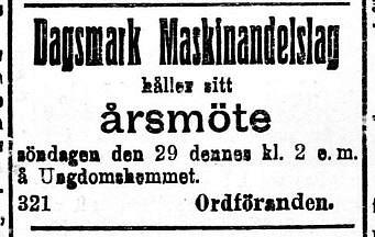 19200228 Dagsmark Maskinandelslag håller möte